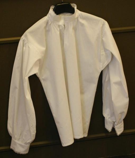 bunadskjorte bomull med nupereller Spødet